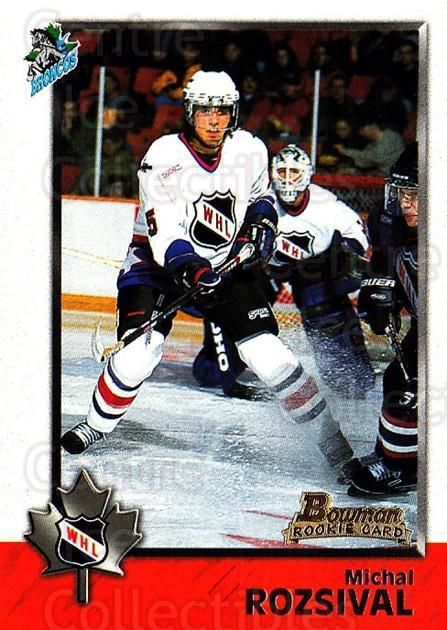 1998 Bowman CHL #64 Michal Rozsival<br/>10 In Stock - $1.00 each - <a href=https://centericecollectibles.foxycart.com/cart?name=1998%20Bowman%20CHL%20%2364%20Michal%20Rozsival...&quantity_max=10&price=$1.00&code=65779 class=foxycart> Buy it now! </a>