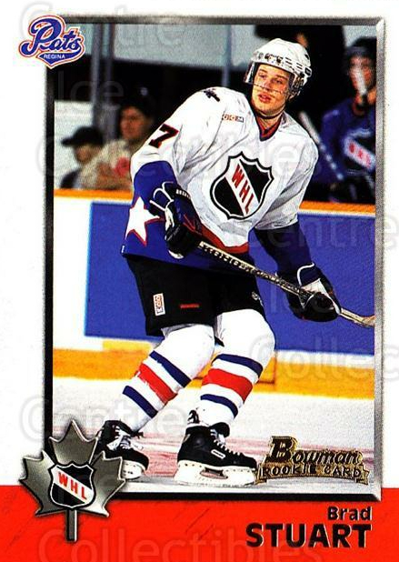 1998 Bowman CHL #66 Brad Stuart<br/>11 In Stock - $1.00 each - <a href=https://centericecollectibles.foxycart.com/cart?name=1998%20Bowman%20CHL%20%2366%20Brad%20Stuart...&quantity_max=11&price=$1.00&code=65781 class=foxycart> Buy it now! </a>
