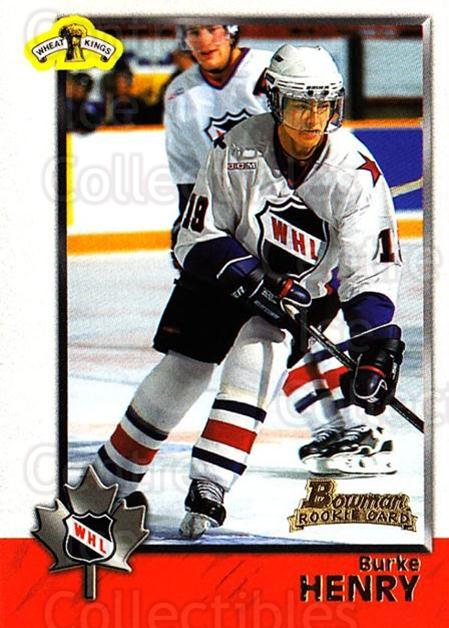 1998 Bowman CHL #67 Burke Henry<br/>10 In Stock - $1.00 each - <a href=https://centericecollectibles.foxycart.com/cart?name=1998%20Bowman%20CHL%20%2367%20Burke%20Henry...&quantity_max=10&price=$1.00&code=65782 class=foxycart> Buy it now! </a>