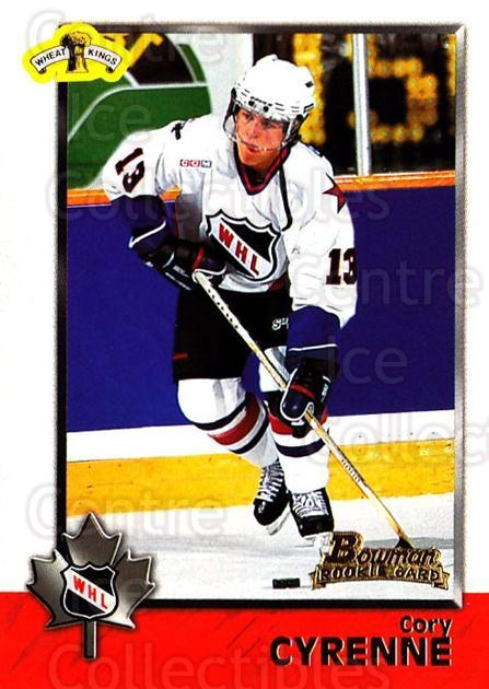 1998 Bowman CHL #74 Cory Cyrenne<br/>10 In Stock - $1.00 each - <a href=https://centericecollectibles.foxycart.com/cart?name=1998%20Bowman%20CHL%20%2374%20Cory%20Cyrenne...&quantity_max=10&price=$1.00&code=65790 class=foxycart> Buy it now! </a>