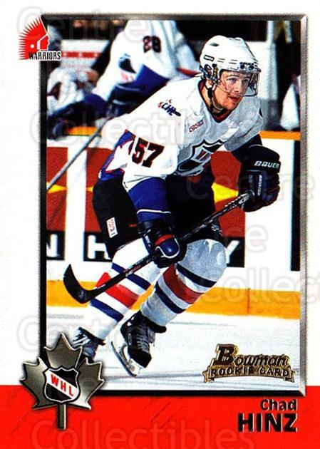 1998 Bowman CHL #80 Chad Hinz<br/>9 In Stock - $1.00 each - <a href=https://centericecollectibles.foxycart.com/cart?name=1998%20Bowman%20CHL%20%2380%20Chad%20Hinz...&quantity_max=9&price=$1.00&code=65797 class=foxycart> Buy it now! </a>