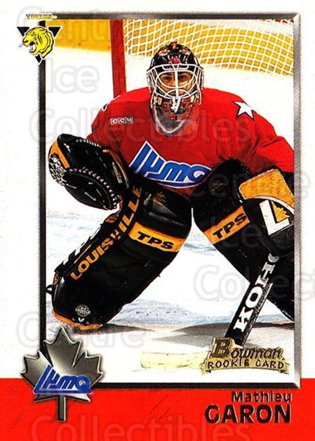 1998 Bowman CHL #81 Mathieu Garon<br/>8 In Stock - $1.00 each - <a href=https://centericecollectibles.foxycart.com/cart?name=1998%20Bowman%20CHL%20%2381%20Mathieu%20Garon...&quantity_max=8&price=$1.00&code=65798 class=foxycart> Buy it now! </a>