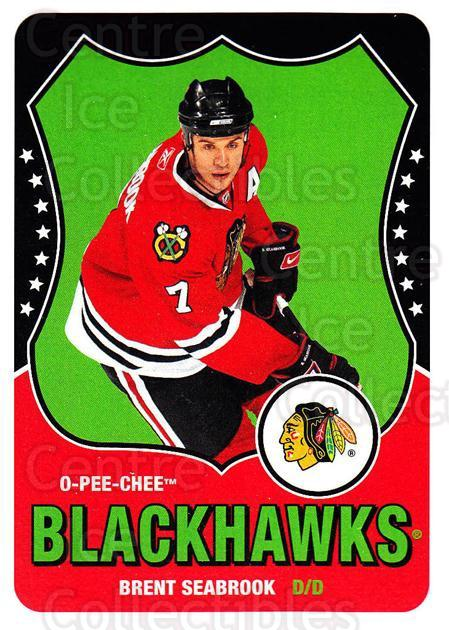 2010-11 O-Pee-Chee Retro #266 Brent Seabrook<br/>2 In Stock - $2.00 each - <a href=https://centericecollectibles.foxycart.com/cart?name=2010-11%20O-Pee-Chee%20Retro%20%23266%20Brent%20Seabrook...&quantity_max=2&price=$2.00&code=657995 class=foxycart> Buy it now! </a>
