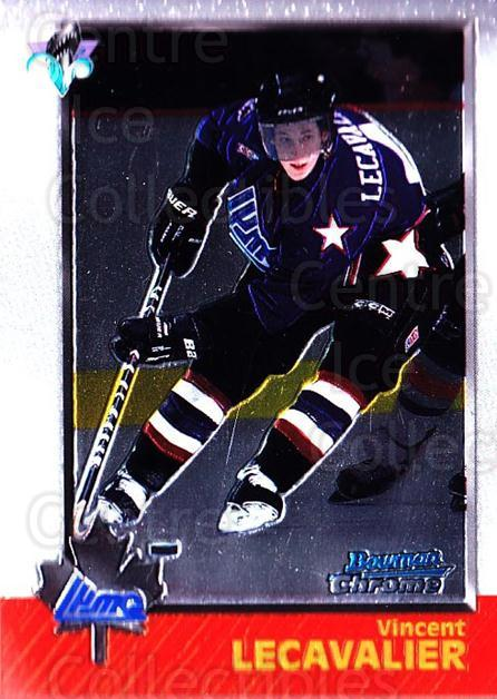 1998 Bowman CHL Chrome #103 Vincent Lecavalier<br/>11 In Stock - $1.00 each - <a href=https://centericecollectibles.foxycart.com/cart?name=1998%20Bowman%20CHL%20Chrome%20%23103%20Vincent%20Lecaval...&quantity_max=11&price=$1.00&code=65818 class=foxycart> Buy it now! </a>