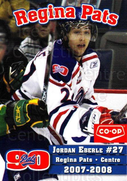 2007-08 Regina Pats #8 Jordan Eberle<br/>18 In Stock - $5.00 each - <a href=https://centericecollectibles.foxycart.com/cart?name=2007-08%20Regina%20Pats%20%238%20Jordan%20Eberle...&quantity_max=18&price=$5.00&code=658311 class=foxycart> Buy it now! </a>
