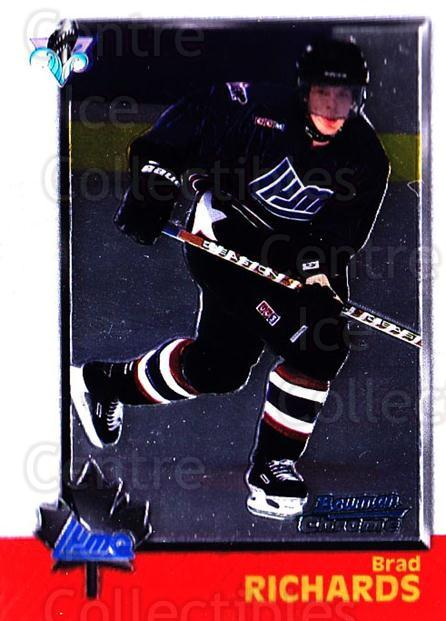 1998 Bowman CHL Chrome #116 Brad Richards<br/>11 In Stock - $1.00 each - <a href=https://centericecollectibles.foxycart.com/cart?name=1998%20Bowman%20CHL%20Chrome%20%23116%20Brad%20Richards...&quantity_max=11&price=$1.00&code=65831 class=foxycart> Buy it now! </a>