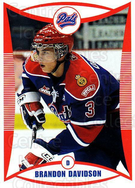 2009-10 Regina Pats #2 Brandon Davidson<br/>5 In Stock - $3.00 each - <a href=https://centericecollectibles.foxycart.com/cart?name=2009-10%20Regina%20Pats%20%232%20Brandon%20Davidso...&price=$3.00&code=658357 class=foxycart> Buy it now! </a>