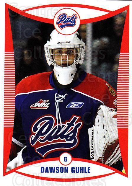 2009-10 Regina Pats #7 Dawson Guhle<br/>17 In Stock - $3.00 each - <a href=https://centericecollectibles.foxycart.com/cart?name=2009-10%20Regina%20Pats%20%237%20Dawson%20Guhle...&price=$3.00&code=658362 class=foxycart> Buy it now! </a>
