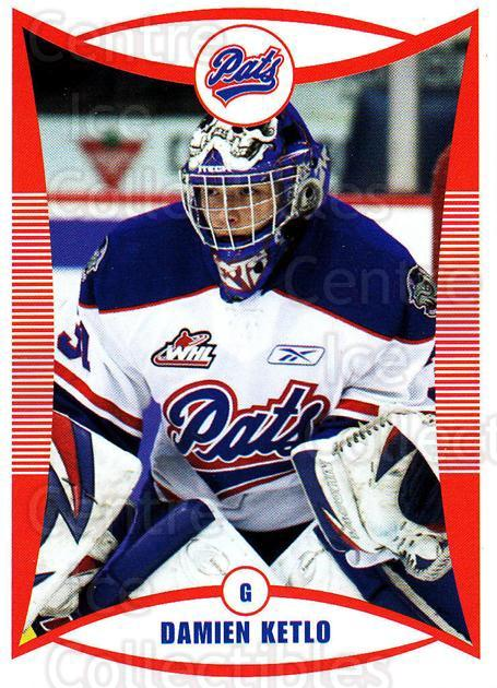 2009-10 Regina Pats #10 Damien Ketlo<br/>15 In Stock - $3.00 each - <a href=https://centericecollectibles.foxycart.com/cart?name=2009-10%20Regina%20Pats%20%2310%20Damien%20Ketlo...&price=$3.00&code=658365 class=foxycart> Buy it now! </a>