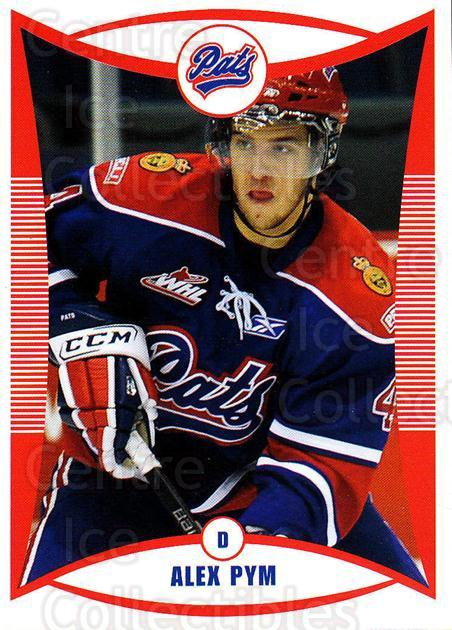 2009-10 Regina Pats #15 Alex Pym<br/>17 In Stock - $3.00 each - <a href=https://centericecollectibles.foxycart.com/cart?name=2009-10%20Regina%20Pats%20%2315%20Alex%20Pym...&price=$3.00&code=658370 class=foxycart> Buy it now! </a>
