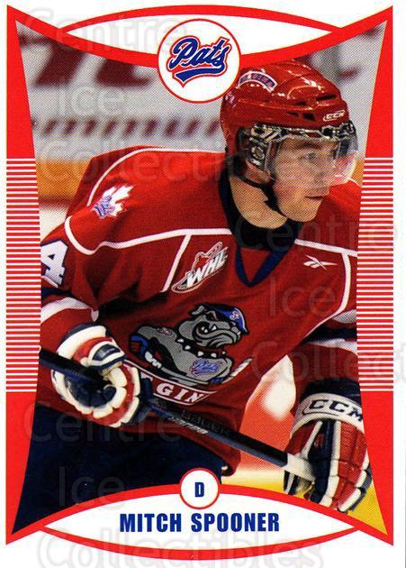 2009-10 Regina Pats #22 Mitch Spooner<br/>17 In Stock - $3.00 each - <a href=https://centericecollectibles.foxycart.com/cart?name=2009-10%20Regina%20Pats%20%2322%20Mitch%20Spooner...&price=$3.00&code=658377 class=foxycart> Buy it now! </a>
