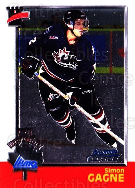 1998 Bowman CHL Chrome #126 Simon Gagne<br/>5 In Stock - $1.00 each - <a href=https://centericecollectibles.foxycart.com/cart?name=1998%20Bowman%20CHL%20Chrome%20%23126%20Simon%20Gagne...&quantity_max=5&price=$1.00&code=65842 class=foxycart> Buy it now! </a>