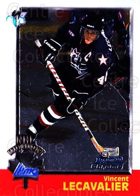 1998 Bowman CHL Chrome #128 Vincent Lecavalier<br/>5 In Stock - $1.00 each - <a href=https://centericecollectibles.foxycart.com/cart?name=1998%20Bowman%20CHL%20Chrome%20%23128%20Vincent%20Lecaval...&quantity_max=5&price=$1.00&code=65844 class=foxycart> Buy it now! </a>
