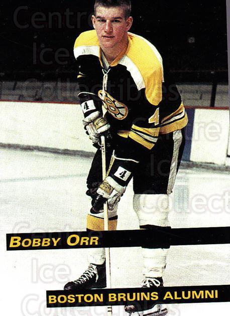 1998-99 Boston Bruins Alumni #4 Bobby Orr<br/>2 In Stock - $10.00 each - <a href=https://centericecollectibles.foxycart.com/cart?name=1998-99%20Boston%20Bruins%20Alumni%20%234%20Bobby%20Orr...&quantity_max=2&price=$10.00&code=658490 class=foxycart> Buy it now! </a>