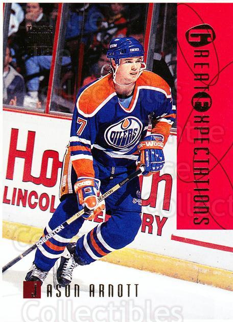 1994-95 Stadium Club Proof #115 Jason Arnott<br/>1 In Stock - $10.00 each - <a href=https://centericecollectibles.foxycart.com/cart?name=1994-95%20Stadium%20Club%20Proof%20%23115%20Jason%20Arnott...&quantity_max=1&price=$10.00&code=658805 class=foxycart> Buy it now! </a>