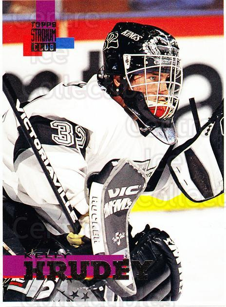 1994-95 Stadium Club Proof #208 Kelly Hrudey<br/>1 In Stock - $10.00 each - <a href=https://centericecollectibles.foxycart.com/cart?name=1994-95%20Stadium%20Club%20Proof%20%23208%20Kelly%20Hrudey...&quantity_max=1&price=$10.00&code=658898 class=foxycart> Buy it now! </a>