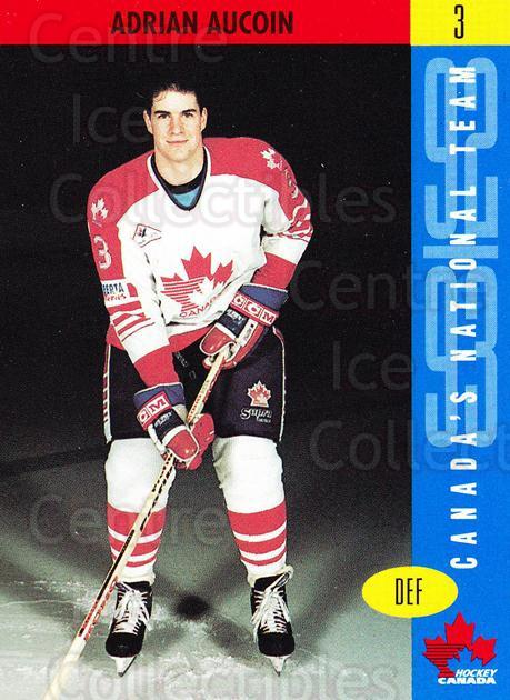 1992-93 Alberta International Team Canada #3 Adrian Aucoin<br/>1 In Stock - $3.00 each - <a href=https://centericecollectibles.foxycart.com/cart?name=1992-93%20Alberta%20International%20Team%20Canada%20%233%20Adrian%20Aucoin...&quantity_max=1&price=$3.00&code=658970 class=foxycart> Buy it now! </a>