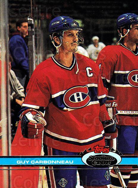 1991-92 Stadium Club Proof #41 Guy Carbonneau<br/>1 In Stock - $10.00 each - <a href=https://centericecollectibles.foxycart.com/cart?name=1991-92%20Stadium%20Club%20Proof%20%2341%20Guy%20Carbonneau...&quantity_max=1&price=$10.00&code=659027 class=foxycart> Buy it now! </a>