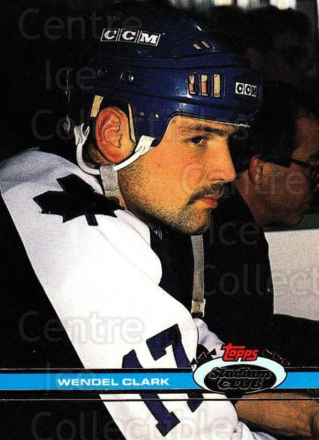 1991-92 Stadium Club Proof #124 Wendel Clark<br/>1 In Stock - $15.00 each - <a href=https://centericecollectibles.foxycart.com/cart?name=1991-92%20Stadium%20Club%20Proof%20%23124%20Wendel%20Clark...&quantity_max=1&price=$15.00&code=659110 class=foxycart> Buy it now! </a>