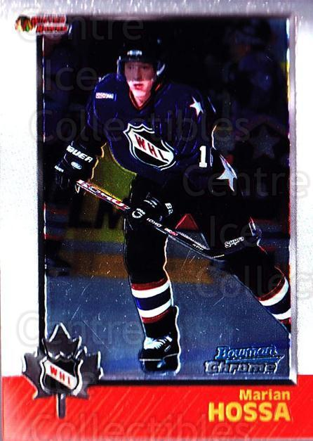 1998 Bowman CHL Chrome #53 Marian Hossa<br/>9 In Stock - $1.00 each - <a href=https://centericecollectibles.foxycart.com/cart?name=1998%20Bowman%20CHL%20Chrome%20%2353%20Marian%20Hossa...&quantity_max=9&price=$1.00&code=65921 class=foxycart> Buy it now! </a>