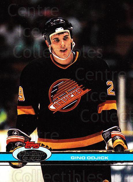 1991-92 Stadium Club Proof #338 Gino Odjick<br/>1 In Stock - $10.00 each - <a href=https://centericecollectibles.foxycart.com/cart?name=1991-92%20Stadium%20Club%20Proof%20%23338%20Gino%20Odjick...&quantity_max=1&price=$10.00&code=659324 class=foxycart> Buy it now! </a>