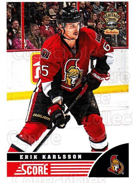 2013-14 Heritage Classic Score #OTT02 Erik Karlsson<br/>9 In Stock - $2.00 each - <a href=https://centericecollectibles.foxycart.com/cart?name=2013-14%20Heritage%20Classic%20Score%20%23OTT02%20Erik%20Karlsson...&quantity_max=9&price=$2.00&code=659431 class=foxycart> Buy it now! </a>