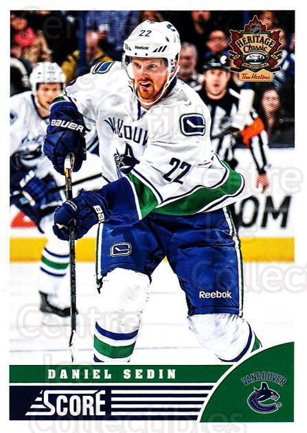 2013-14 Heritage Classic Score #VAN01 Daniel Sedin<br/>9 In Stock - $2.00 each - <a href=https://centericecollectibles.foxycart.com/cart?name=2013-14%20Heritage%20Classic%20Score%20%23VAN01%20Daniel%20Sedin...&price=$2.00&code=659440 class=foxycart> Buy it now! </a>