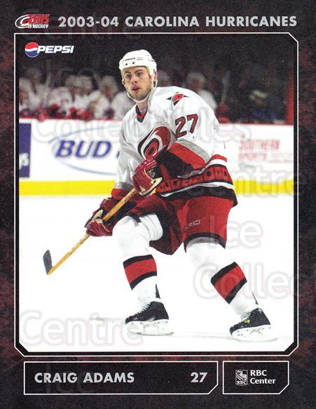 2003-04 Carolina Hurricanes Postcards #1 Craig Adams<br/>3 In Stock - $3.00 each - <a href=https://centericecollectibles.foxycart.com/cart?name=2003-04%20Carolina%20Hurricanes%20Postcards%20%231%20Craig%20Adams...&quantity_max=3&price=$3.00&code=659461 class=foxycart> Buy it now! </a>