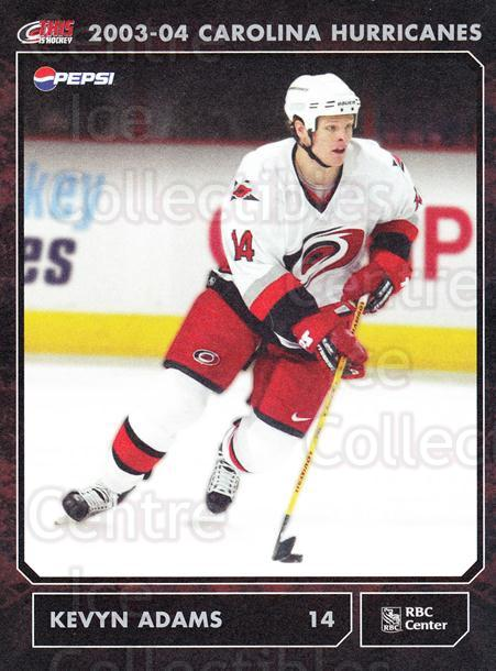2003-04 Carolina Hurricanes Postcards #2 Kevyn Adams<br/>2 In Stock - $3.00 each - <a href=https://centericecollectibles.foxycart.com/cart?name=2003-04%20Carolina%20Hurricanes%20Postcards%20%232%20Kevyn%20Adams...&quantity_max=2&price=$3.00&code=659462 class=foxycart> Buy it now! </a>