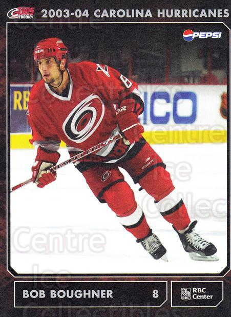 2003-04 Carolina Hurricanes Postcards #4 Bob Boughner<br/>1 In Stock - $3.00 each - <a href=https://centericecollectibles.foxycart.com/cart?name=2003-04%20Carolina%20Hurricanes%20Postcards%20%234%20Bob%20Boughner...&quantity_max=1&price=$3.00&code=659464 class=foxycart> Buy it now! </a>