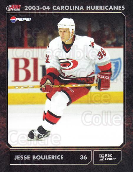 2003-04 Carolina Hurricanes Postcards #5 Jesse Boulerice<br/>1 In Stock - $3.00 each - <a href=https://centericecollectibles.foxycart.com/cart?name=2003-04%20Carolina%20Hurricanes%20Postcards%20%235%20Jesse%20Boulerice...&quantity_max=1&price=$3.00&code=659465 class=foxycart> Buy it now! </a>
