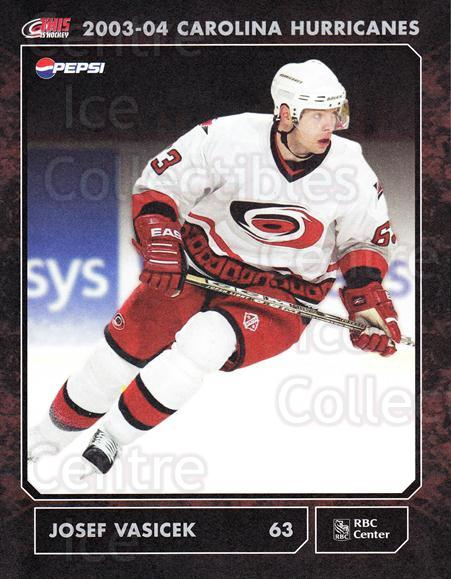 2003-04 Carolina Hurricanes Postcards #19 Josef Vasicek<br/>2 In Stock - $3.00 each - <a href=https://centericecollectibles.foxycart.com/cart?name=2003-04%20Carolina%20Hurricanes%20Postcards%20%2319%20Josef%20Vasicek...&quantity_max=2&price=$3.00&code=659479 class=foxycart> Buy it now! </a>