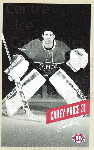 2015-16 Montreal Canadiens Postcards #20 Carey Price<br/>1 In Stock - $5.00 each - <a href=https://centericecollectibles.foxycart.com/cart?name=2015-16%20Montreal%20Canadiens%20Postcards%20%2320%20Carey%20Price...&quantity_max=1&price=$5.00&code=659504 class=foxycart> Buy it now! </a>