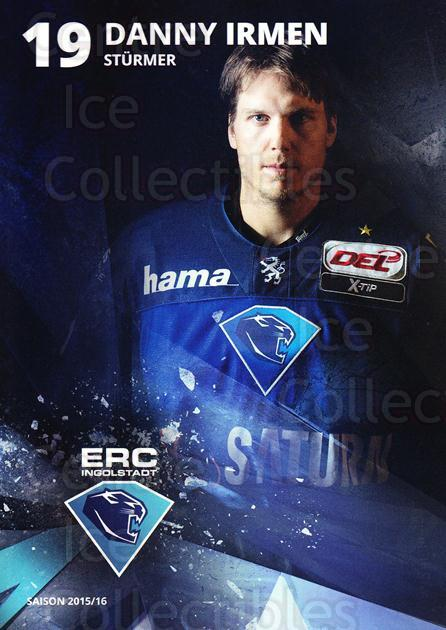 2015-16 German Ingolstadt ERC Postcards #11 Danny Irmen<br/>2 In Stock - $3.00 each - <a href=https://centericecollectibles.foxycart.com/cart?name=2015-16%20German%20Ingolstadt%20ERC%20Postcards%20%2311%20Danny%20Irmen...&quantity_max=2&price=$3.00&code=659707 class=foxycart> Buy it now! </a>
