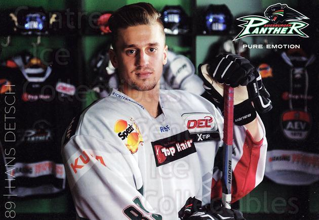 2015-16 German Augsburg Panthers Postcards #4 Hans Detsch<br/>2 In Stock - $3.00 each - <a href=https://centericecollectibles.foxycart.com/cart?name=2015-16%20German%20Augsburg%20Panthers%20Postcards%20%234%20Hans%20Detsch...&quantity_max=2&price=$3.00&code=659760 class=foxycart> Buy it now! </a>