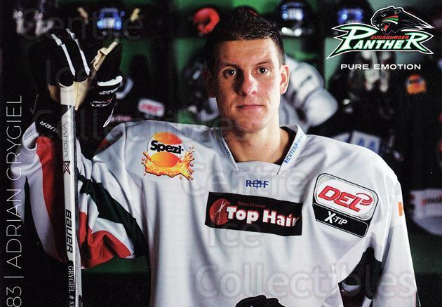 2015-16 German Augsburg Panthers Postcards #6 Adrian Grygiel<br/>2 In Stock - $3.00 each - <a href=https://centericecollectibles.foxycart.com/cart?name=2015-16%20German%20Augsburg%20Panthers%20Postcards%20%236%20Adrian%20Grygiel...&quantity_max=2&price=$3.00&code=659762 class=foxycart> Buy it now! </a>