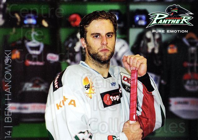 2015-16 German Augsburg Panthers Postcards #7 Ben Hanowski<br/>1 In Stock - $3.00 each - <a href=https://centericecollectibles.foxycart.com/cart?name=2015-16%20German%20Augsburg%20Panthers%20Postcards%20%237%20Ben%20Hanowski...&quantity_max=1&price=$3.00&code=659763 class=foxycart> Buy it now! </a>