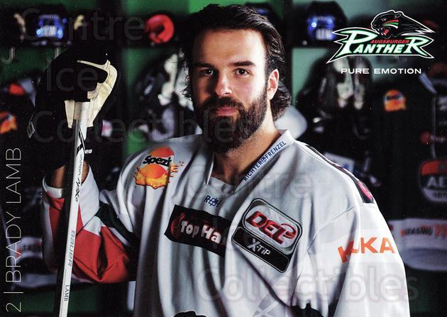 2015-16 German Augsburg Panthers Postcards #13 Brady Lamb<br/>2 In Stock - $3.00 each - <a href=https://centericecollectibles.foxycart.com/cart?name=2015-16%20German%20Augsburg%20Panthers%20Postcards%20%2313%20Brady%20Lamb...&quantity_max=2&price=$3.00&code=659769 class=foxycart> Buy it now! </a>