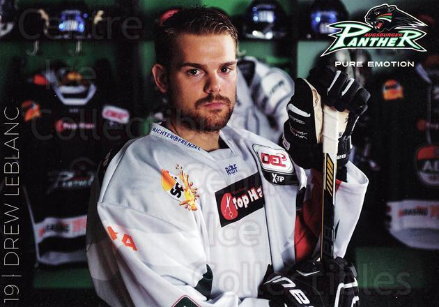 2015-16 German Augsburg Panthers Postcards #14 Drew LeBlanc<br/>2 In Stock - $3.00 each - <a href=https://centericecollectibles.foxycart.com/cart?name=2015-16%20German%20Augsburg%20Panthers%20Postcards%20%2314%20Drew%20LeBlanc...&quantity_max=2&price=$3.00&code=659770 class=foxycart> Buy it now! </a>