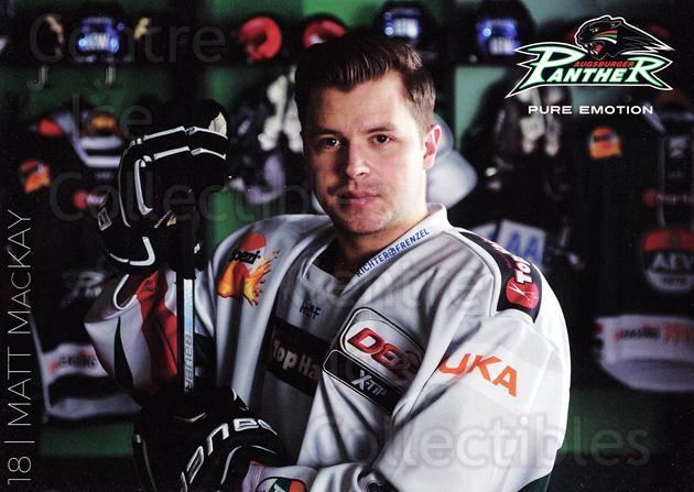 2015-16 German Augsburg Panthers Postcards #15 Matt MacKay<br/>2 In Stock - $3.00 each - <a href=https://centericecollectibles.foxycart.com/cart?name=2015-16%20German%20Augsburg%20Panthers%20Postcards%20%2315%20Matt%20MacKay...&quantity_max=2&price=$3.00&code=659771 class=foxycart> Buy it now! </a>
