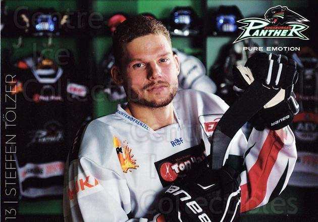 2015-16 German Augsburg Panthers Postcards #26 Steffen Tolzer<br/>1 In Stock - $3.00 each - <a href=https://centericecollectibles.foxycart.com/cart?name=2015-16%20German%20Augsburg%20Panthers%20Postcards%20%2326%20Steffen%20Tolzer...&quantity_max=1&price=$3.00&code=659782 class=foxycart> Buy it now! </a>