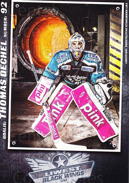 2015-16 EBEL EHC Liwest Black Wings Linz Postcards #4 Thomas Dechel<br/>2 In Stock - $3.00 each - <a href=https://centericecollectibles.foxycart.com/cart?name=2015-16%20EBEL%20EHC%20Liwest%20Black%20Wings%20Linz%20Postcards%20%234%20Thomas%20Dechel...&quantity_max=2&price=$3.00&code=659788 class=foxycart> Buy it now! </a>