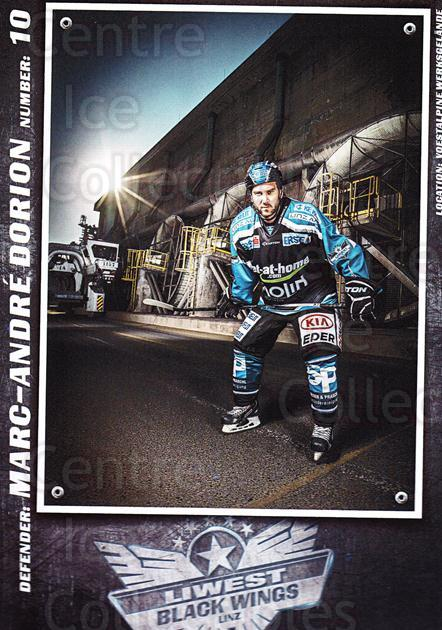 2015-16 EBEL EHC Liwest Black Wings Linz Postcards #5 Marc-Andre Dorion<br/>2 In Stock - $3.00 each - <a href=https://centericecollectibles.foxycart.com/cart?name=2015-16%20EBEL%20EHC%20Liwest%20Black%20Wings%20Linz%20Postcards%20%235%20Marc-Andre%20Dori...&quantity_max=2&price=$3.00&code=659789 class=foxycart> Buy it now! </a>