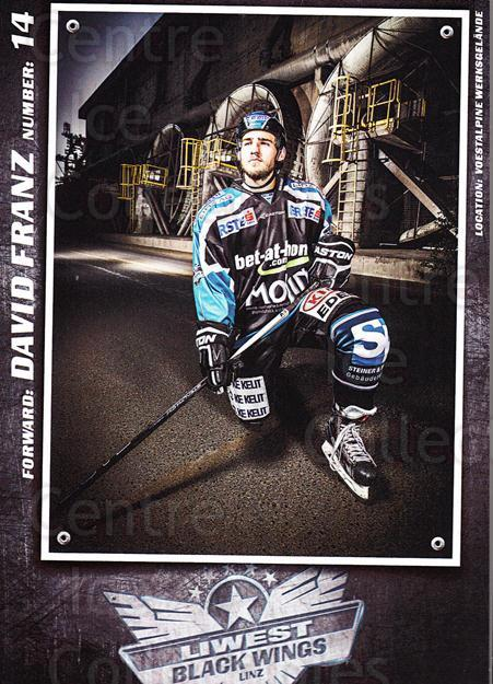 2015-16 EBEL EHC Liwest Black Wings Linz Postcards #7 David Franz<br/>2 In Stock - $3.00 each - <a href=https://centericecollectibles.foxycart.com/cart?name=2015-16%20EBEL%20EHC%20Liwest%20Black%20Wings%20Linz%20Postcards%20%237%20David%20Franz...&quantity_max=2&price=$3.00&code=659791 class=foxycart> Buy it now! </a>