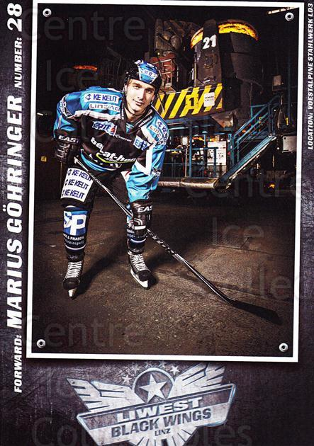 2015-16 EBEL EHC Liwest Black Wings Linz Postcards #9 Marius Gohringer<br/>2 In Stock - $3.00 each - <a href=https://centericecollectibles.foxycart.com/cart?name=2015-16%20EBEL%20EHC%20Liwest%20Black%20Wings%20Linz%20Postcards%20%239%20Marius%20Gohringe...&quantity_max=2&price=$3.00&code=659793 class=foxycart> Buy it now! </a>