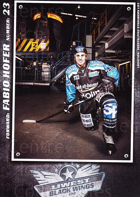 2015-16 EBEL EHC Liwest Black Wings Linz Postcards #11 Fabio Hofer<br/>2 In Stock - $3.00 each - <a href=https://centericecollectibles.foxycart.com/cart?name=2015-16%20EBEL%20EHC%20Liwest%20Black%20Wings%20Linz%20Postcards%20%2311%20Fabio%20Hofer...&quantity_max=2&price=$3.00&code=659795 class=foxycart> Buy it now! </a>