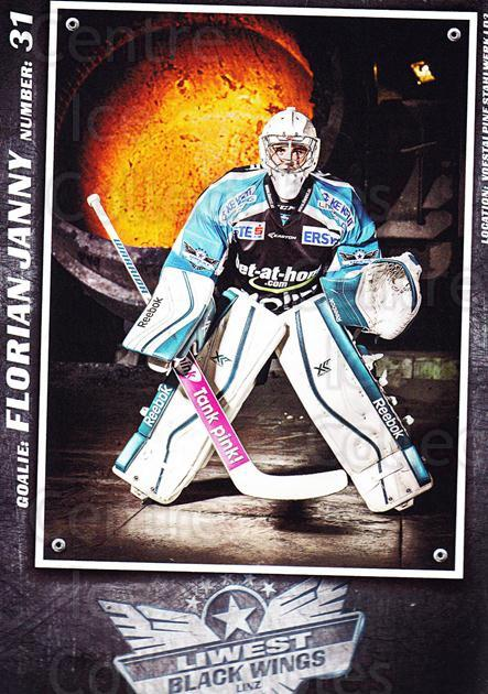 2015-16 EBEL EHC Liwest Black Wings Linz Postcards #12 Florian Janny<br/>2 In Stock - $3.00 each - <a href=https://centericecollectibles.foxycart.com/cart?name=2015-16%20EBEL%20EHC%20Liwest%20Black%20Wings%20Linz%20Postcards%20%2312%20Florian%20Janny...&quantity_max=2&price=$3.00&code=659796 class=foxycart> Buy it now! </a>