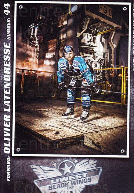 2015-16 EBEL EHC Liwest Black Wings Linz Postcards #15 Olivier Latendresse<br/>2 In Stock - $3.00 each - <a href=https://centericecollectibles.foxycart.com/cart?name=2015-16%20EBEL%20EHC%20Liwest%20Black%20Wings%20Linz%20Postcards%20%2315%20Olivier%20Latendr...&quantity_max=2&price=$3.00&code=659799 class=foxycart> Buy it now! </a>