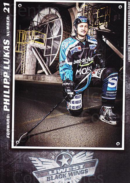 2015-16 EBEL EHC Liwest Black Wings Linz Postcards #17 Philipp Lukas<br/>2 In Stock - $3.00 each - <a href=https://centericecollectibles.foxycart.com/cart?name=2015-16%20EBEL%20EHC%20Liwest%20Black%20Wings%20Linz%20Postcards%20%2317%20Philipp%20Lukas...&quantity_max=2&price=$3.00&code=659801 class=foxycart> Buy it now! </a>