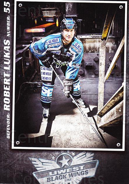 2015-16 EBEL EHC Liwest Black Wings Linz Postcards #18 Robert Lukas<br/>2 In Stock - $3.00 each - <a href=https://centericecollectibles.foxycart.com/cart?name=2015-16%20EBEL%20EHC%20Liwest%20Black%20Wings%20Linz%20Postcards%20%2318%20Robert%20Lukas...&quantity_max=2&price=$3.00&code=659802 class=foxycart> Buy it now! </a>